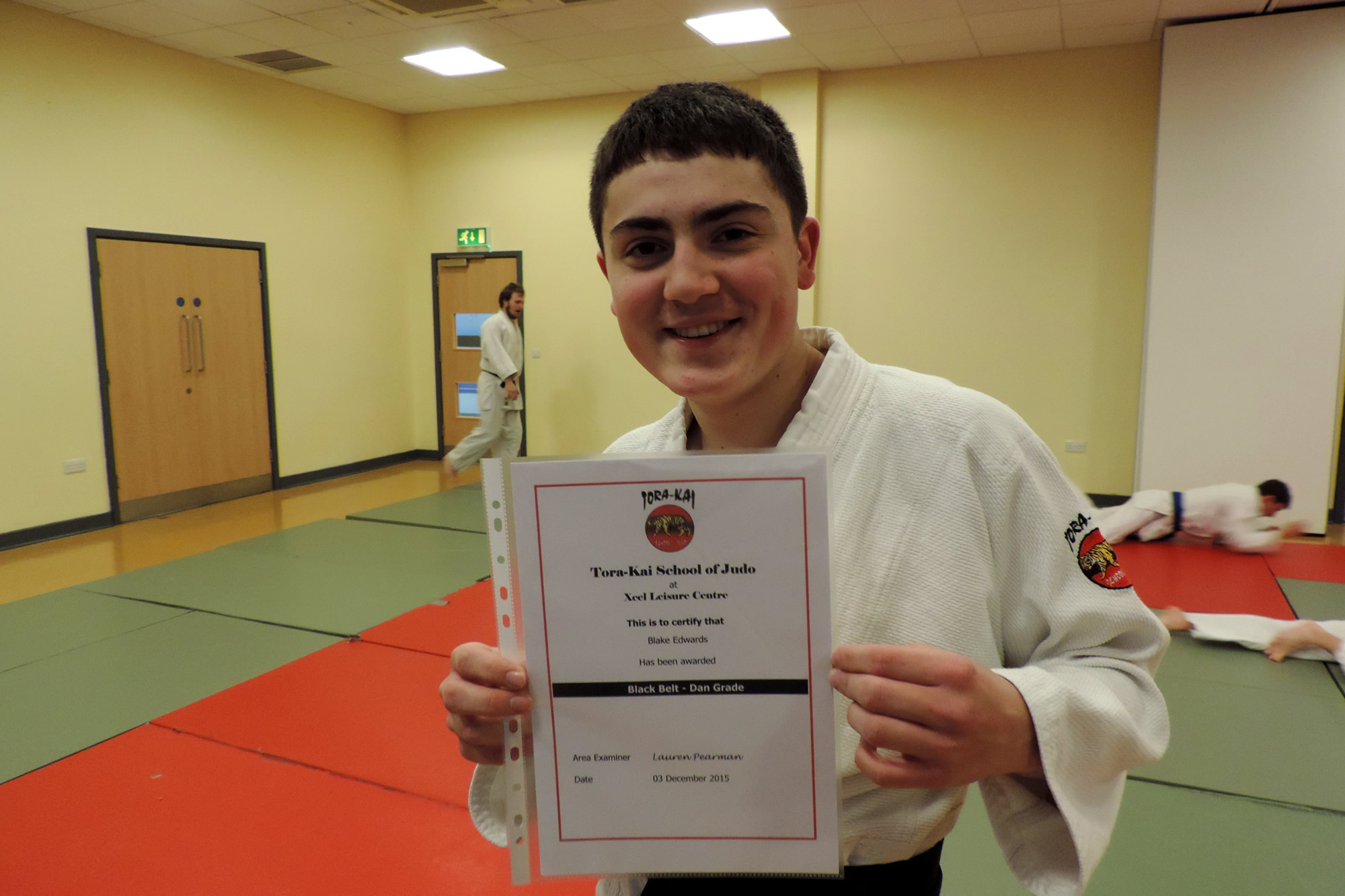 Blake Edwards - Awarded Judo Black Belt at Elmbridge Xcel