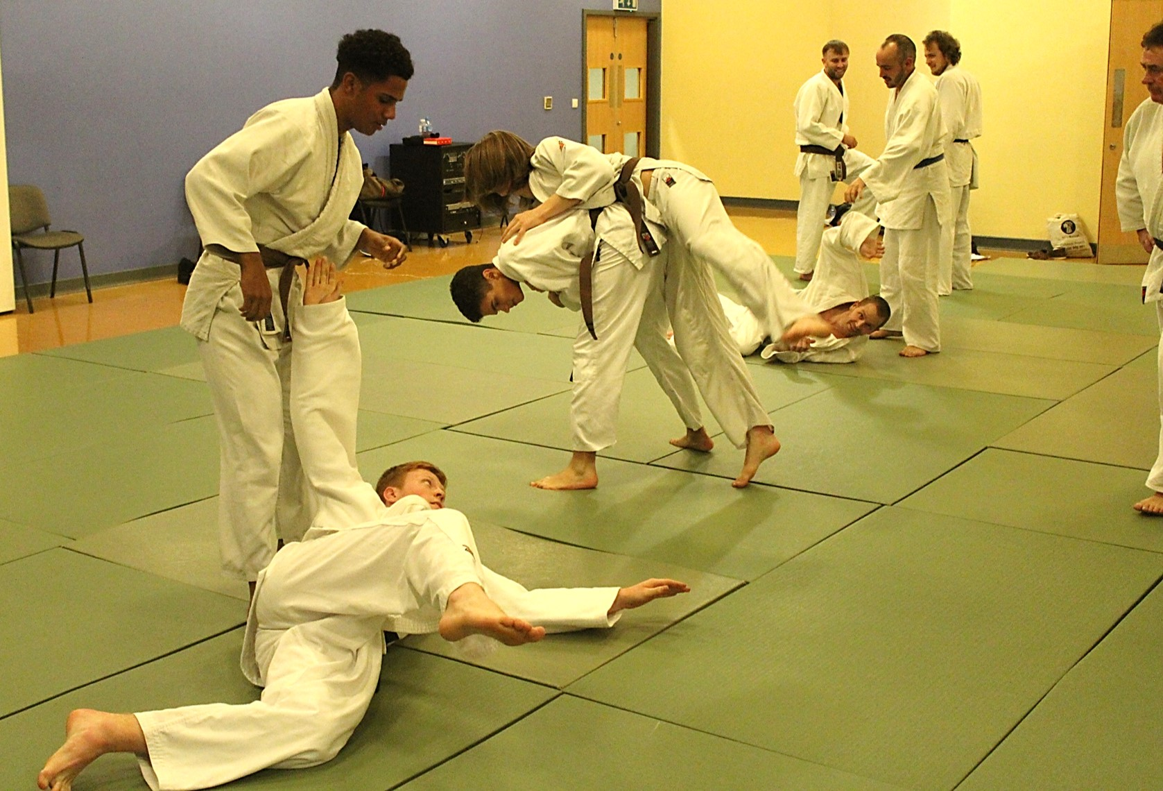 Judo Class for Teenagers and Adults at Elmbridge Xcel Leisure Centre Walton-on-Thames Surrey