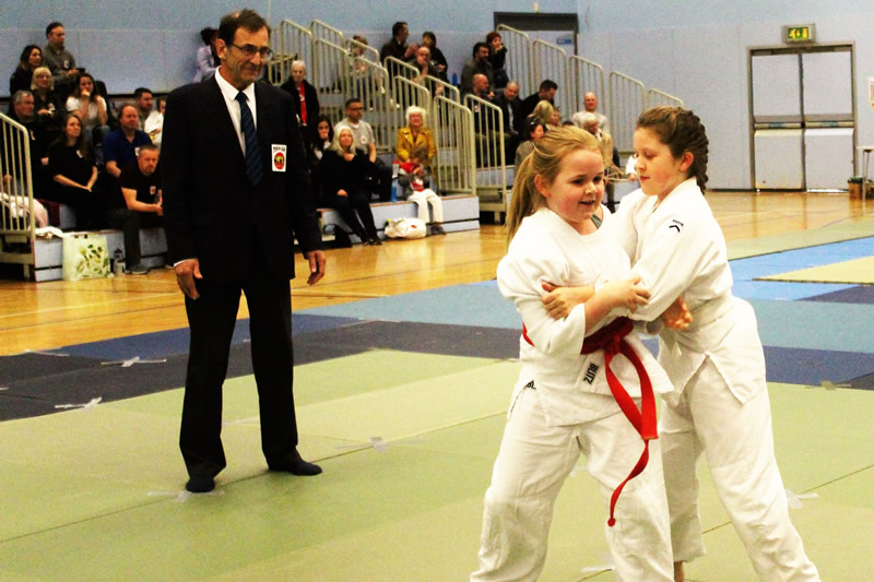 Girls in Walton Judo Tournament