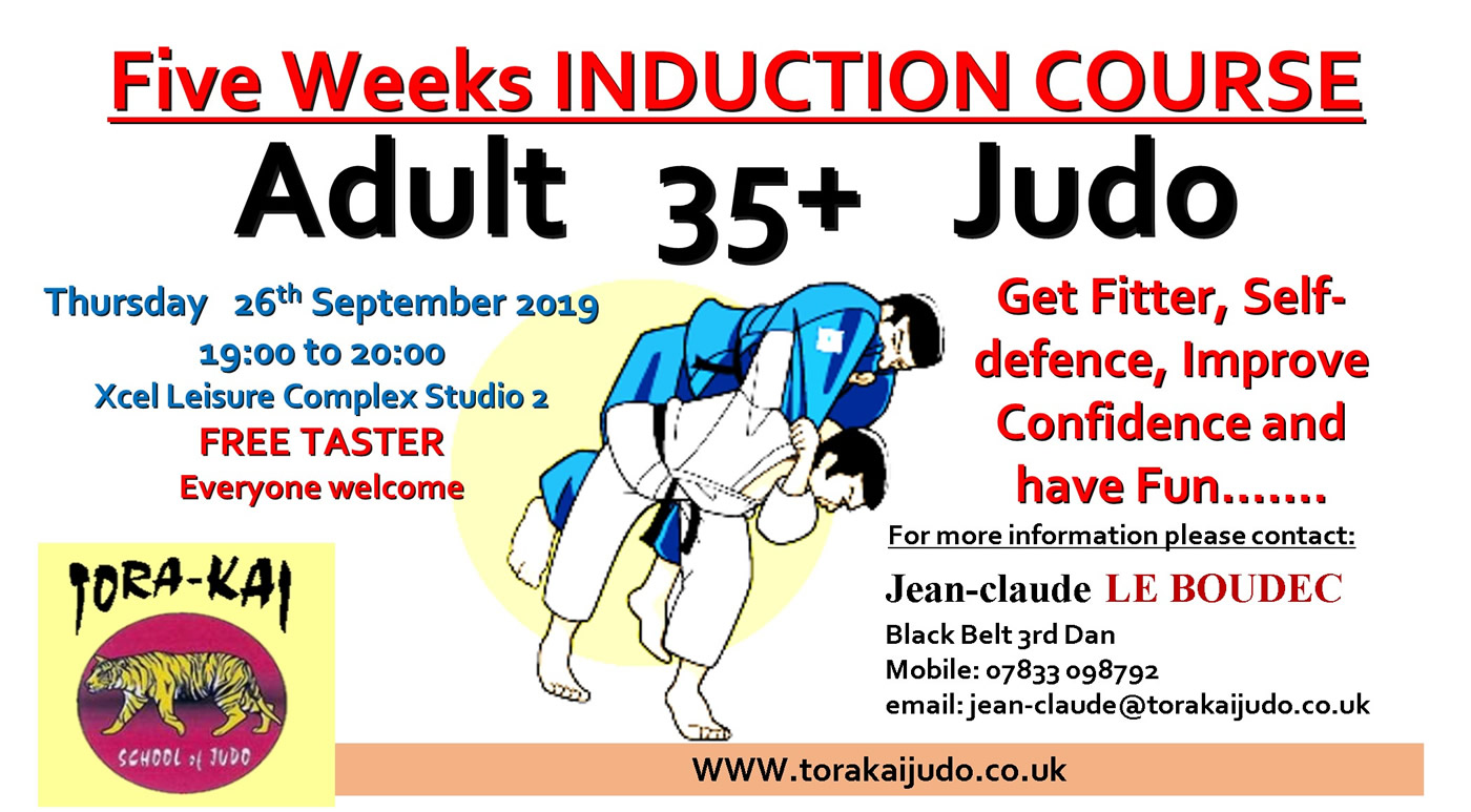 Judo Class For Adults on Thursdays at Elmbridge Xcel Leisure Centre Walton-on-Thames Surrey
